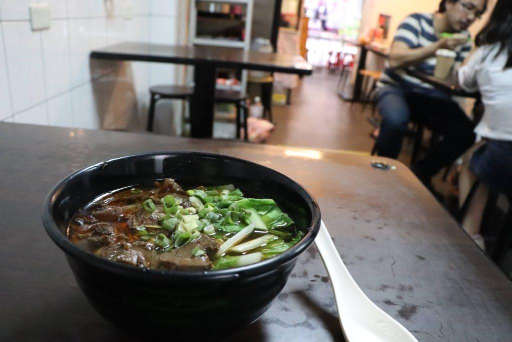 台湾で食べた最高の牛肉麺