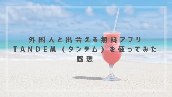 外国人と出会える無料アプリTandem(タンデム)を使ってみた感想